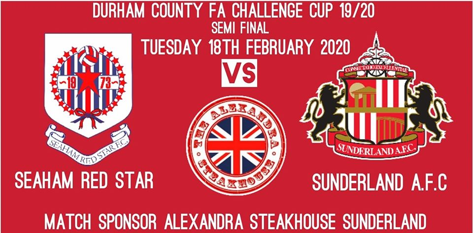 The Star will host Sunderland U23's in the County Cup Semi Final