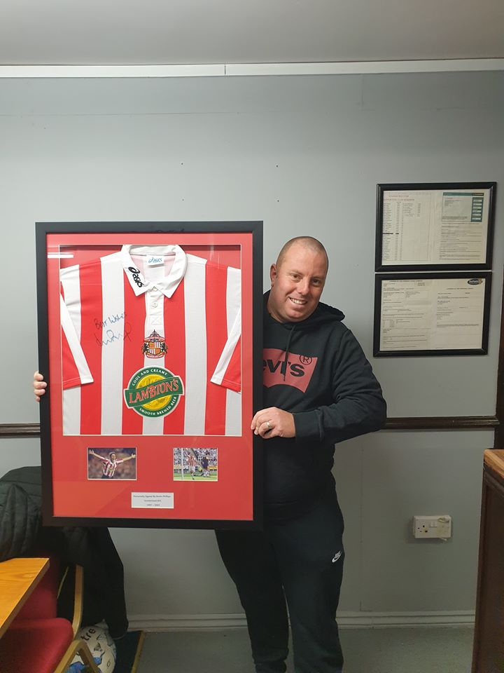 Winner of the Framed Kevin Phillips shirt is Shaun Sutherland